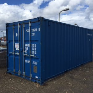New 20' ISO Containers available in blue and green.