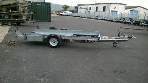 Ifor Williams CT136 single axle car transporter c/w spare wheel