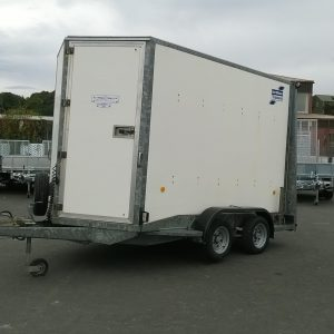Ifor Williams BV106 box van fitted with roller shutter rear door and spare wheel