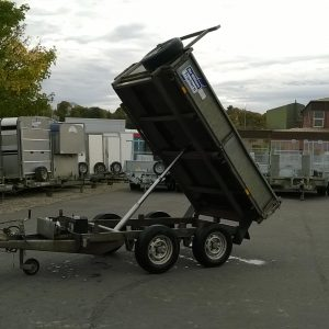 Ifor Williams TT85g hydraulic tipper complete with drop sides, spare wheel and ladder rack