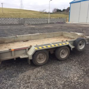 Nugent 3500kg Plant trailer C/W Spare Wheel TRADE IN TO CLEAR  Contact Mark