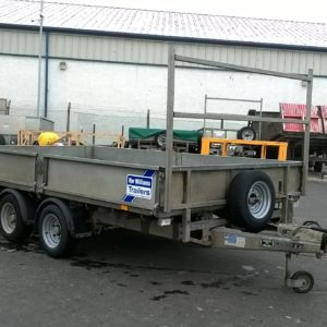 Ifor Williams LM126 flatbed complete with dropsides, ladder rack and spare wheel. serviced by our workshop and ready for work.