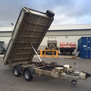 Ifor Williams TT3621-352 Hydraulic tipper 3500kg Complete with light guards, removable dropsides and spare wheel, good condition for age, fully serviced by our workshop and ready for work.