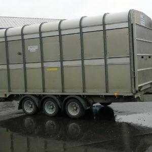 Ifor Williams DP120s Tri Axle Stock box 14ft x 6ft , 3500kg, Complete with easyload deck system, sump tank kit, internal sheep dividers, cattle divider and rear loading gates, This trailer has been fully serviced by our workshop and ready for work, Available soon,   please call for more details