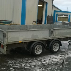 Ifor Williams LM126 Flatbed, 3500kg Reg Sept 2016, complete with removable drop sides and spare wheel, in very good condition, fully serviced by our workshop and ready for work