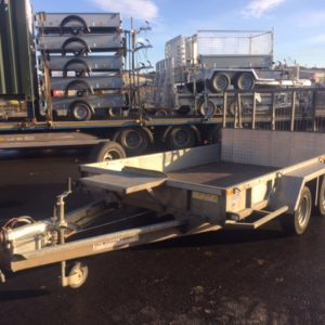 Ifor Williams GP106g Plant Trailer, 3500kg complete with 4ft ramp tail, lashing points and spare wheel,