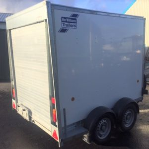 Ifor Williams BV85g Box Van, 2700kg, Reg March 16, 6ft head room in very good condition inside and out, rear roller shutter door and front access door, complete with spare wheel, fully serviced by our workshop and ready to go , call for more details