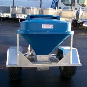 CLM Trailers Snacker / Feeder, New 2019,  large capacity hopper with dispenser lever , Fully galvanised chassis,  Comes complete with knobbly Tyres for off road use and swivel coupling for towing behind quad etc, Call Mark on 07710 637078 for further details