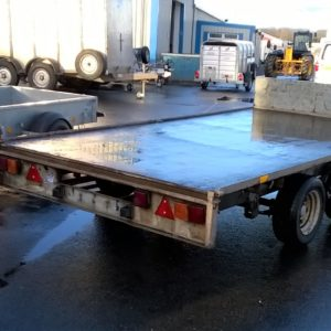 Ifor Williams LM126 Flatbed Trailer, 3500kg Reg June 2010. Complete with headboard and spare wheel. Just been fully serviced by our workshop and ready for work, For further details call Mark on 07710 637078