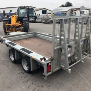 Ifor Williams GX106 Plant Trailer 3500kg, Reg July 2015, Good condition , easy loading with full size ramp, complete with spare wheel, fully serviced by our workshop and ready for work. For more details contact Mark on 07710 637078