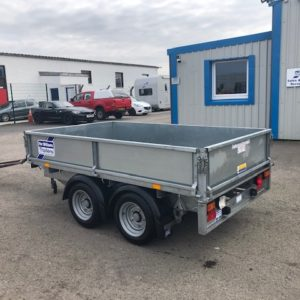 Ifor Williams LM85g Flatbed, 2700kg Reg Sept 2017, complete with removable dropsides and spare wheel, fully serviced by our workshop and ready to work , For further details call Mark on 07710 637078