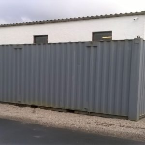 20ft ISO Grey Container complete with fitted key lock , 2 available , delivery can be arranged if required    For more details contact Mark on 07710 637078