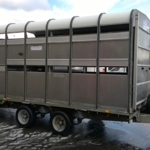Ifor Williams DP120s Stockbox , 3500kg Reg May 2010, 12ft x 6ft ,Very good condition for age, Demountable, can be used as a flatbed trailer when box removed, comes complete with Easyload deck system , Sump tank kit, Rear loading gates, internal sheep divisions , cattle division and spare wheel , fully serviced by our workshop and ready to work For more details contact Mark on 07710 637078
