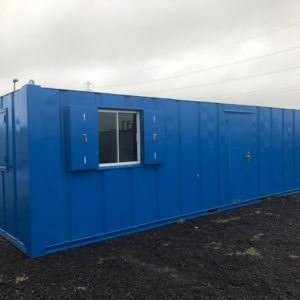 32ft x 10ft Anti Vandal Office Unit, complete with Kitchen and electric hookup, in immaculate condition, for further details contact Mark on 07710 637078