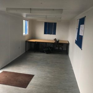 23ft x 10ft Anti Vandal Office Unit, complete with Kitchen and electric hookup, in immaculate condition, for further details contact Mark on 07710 637078