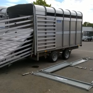 Ifor Williams DP120g 12ft, Stockbox, 3500kg Reg Date TBC, Comes complete with full set of removable dropsides, turning this trailer in to a LM126, Stockbox comes complete with easyload deck system rear loading gates, extension gates , cattle division and spare wheel, Very good condition and fully serviced by our workshop and ready to work, for further details call Mark on 07710 637078