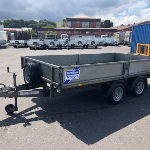 Ifor Williams LM126 Flatbed 3500kg Reg Date Sept 13, good condition for age , complete with removable drop sides and spare wheel also keys, this trailer has been fully serviced by our workshop and is ready to work, for more details call Mark on 07710 637078