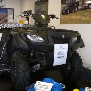 2014 Suzuki King Quad 500cc , Fully automatic 4x4 with high & Low , diff lock, power steering, Front & rear racks,
