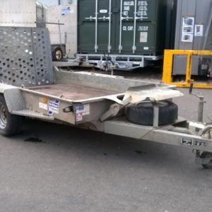 Ifor Williams GH1054 BT Plant Trailer 3500kg, Reg Date June 2016. Complete with full ramp tail, and spare wheel.