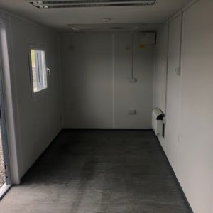 20ft x 8ft Office Unit complete with security windows , electric hook up etc 