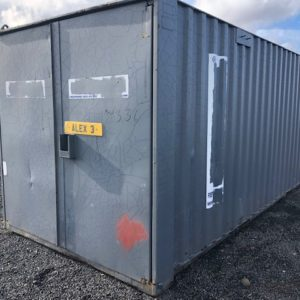 20ft x 8ft ISO Container complete with lock and keys, for more information on this and other new and used containers also delivery if required call Mark on 07710 637078