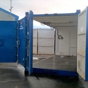 20ft ISO Multi Door Container, Full side opening etc complete with electric hook up and internal Lights, For further details and delivery if required contact Mark on 07710 637078