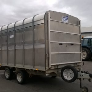Ifor Williams DP120s 12ft Stock box 3500kg Reg Date TBC, Comes complete with Easy load deck system , sump tank kit , full size cattle division and spare wheel , this trailer will come fully serviced by our workshop and ready to work. for further details call Mark on 07710 637078