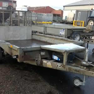 Trade in to clear Ifor Williams GX106 Plant Trailer 3500kg Reg Date TBC Complete with full ramp tail and spare wheel