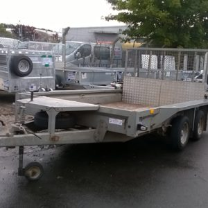 Ifor Williams GX106 Plant Trailer 3500kg Reg Date TBC complete with full ramp tail and spare wheel. This trailer will be sold as seen no warranty given or implied for further details contact Mark on 07710 637078