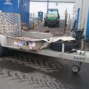 Ifor Williams GH1054bt Plant Trailer 3500kg, Reg Date June 2016, Complete with full ramp tail and spare wheel 