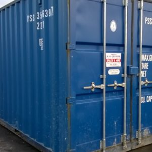 20ft Container complete with internal racking /shelfing , For further details on this and other containers Please contact Mark on 07710 637078