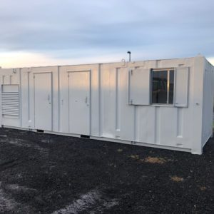 Container complete with generator unit and kitchen area. For more details call Mark on 07710 637078