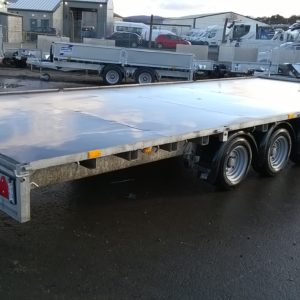 Ifor Williams LM208 Flatbed 3500kg Tri Axle  Build Date 2019 Our Ex Demo , In excellent condition, fitted with full LED lights and spare wheel, for further details contact Mark on 07710 637078