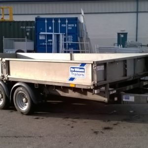 Ifor Williams LM146 Tri Axle Flatbed, 3500kg Build Date Nov 2018, Very good condition, Complete with Led lights , Removable drop sides, toolbox and spare wheel, fully serviced by our workshop and ready to work.  For further details Call Mark on 07710 637078 or sales on 01463 248268