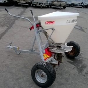 Logic LDS120DS Fertiliser / Salt Gritter. 120lt Hopper ,200kg Gross , can be towed behind quad, comes complete with swivel hitch, For further Details Contact Mark on 07710 637078