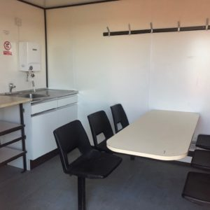 Welfare Unit , complete with kitchen seating area etc.