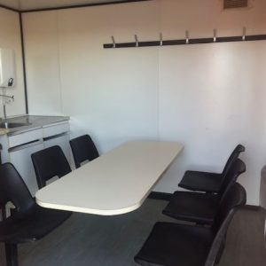 Welfare Unit Complete with Kitchen seating area etc