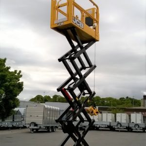 JCB S19 30e Electric Scissor Lift , 19ft high , In very good condition only done 44.3 hours , made for tight restrictive spaces , delivery can be arranged For more details contact Mark on 07710 637078