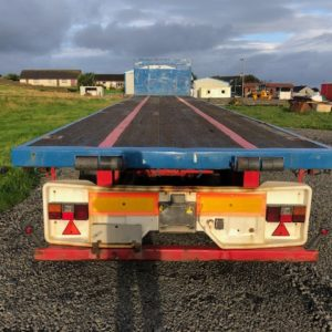 45ft Artic Trailer, comes complete with twistlocks, bolster pins and cages for sheets.