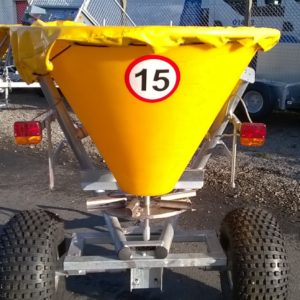 Jarmet Gritter / Spreader, complete with lights and 500lt hopper with cover