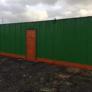 32ft x 10ft Office container , complete with toilet & shower, windows with security shutters and 240v hook up 