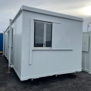 32ft x 10ft  Container complete with sink and worktop area, Security shutters on windows  For more information and possible delivery contact Mark on 07710 637078