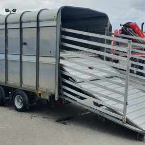 Ifor Williams DP120 12ft Stockbox, 3500kg Build date Jan 2013, Complete with Easyload Deck system, 2 Sheep dividers, Cattle Division, Sumptank kit, rear loading gates and spare wheel, this trailer has been fully serviced by our workshop and is ready to work, For more details Contact Mark on 07710 637078