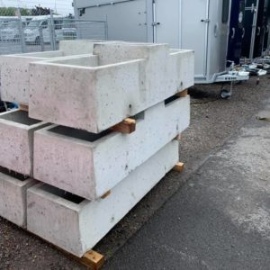 """Concrete water trough 5ft2"""" x 1ft8"""" . 40 gallon double water trough. With drainage plugs.   For details call  Mark on 07710637078"""