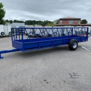 New 32 Space feed trailer . 19ft length . Timber floor ,rear open swing door . Fixed sides with diagonal bars . For more info Call Mark on 07710637078 or Sam on 07522716854